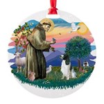 St Francis #2/ Eng Spring Round Ornament
