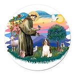 St.Francis #2/ Eng Springer ( Round Car Magnet