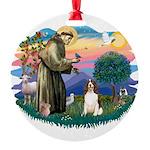 St.Francis #2/ Eng Springer ( Round Ornament