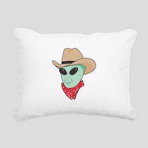cowboy alien copy Rectangular Canvas Pillow