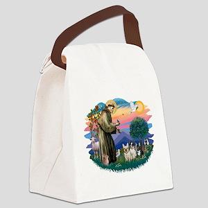 St.Francis #2/ Fr Bulldog (3) Canvas Lunch Bag