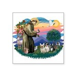 St.Francis #2/ Fr Bulldog (3) Square Sticker 3&quo