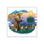St.Francis #2/ Fr Bulldog (br Square Sticker 3&quo