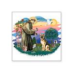 "St.Francis #2/ Ger Shep #2 Square Sticker 3"""