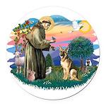 St.Francis #2/ Ger Shep #2 Round Car Magnet
