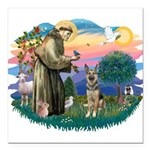 St.Francis #2/ German Shep (P Square Car Magnet 3&