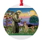 St Francis / G Shep Round Ornament
