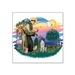 """St.Francis #2/ GSHP Square Sticker 3"""" x 3&quo"""