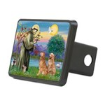StFrancis-2Goldens Rectangular Hitch Cover