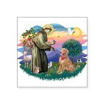 St.Francis #2/ Golden Ret(B4) Square Sticker 3&quo