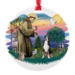 St.Francis #2/ Greater Swiss Round Ornament