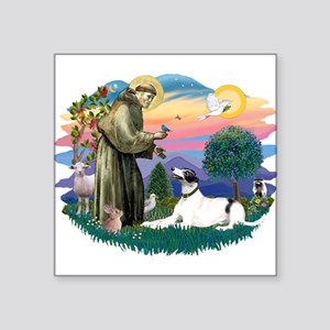 "St.Francis #2/ Greyhound Square Sticker 3"" x"