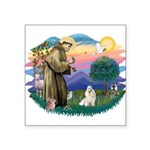 St.Francis #2/ Havanese (whit Square Sticker 3&quo