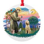 S, Fr, #2/ Italian Spinone Round Ornament