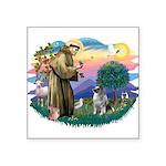 St Francis #2 / Keeshond Square Sticker 3