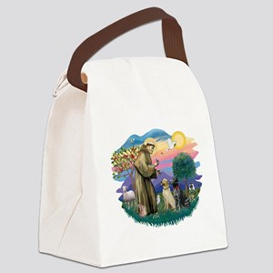 St.Francis #2/ Two Labradors Canvas Lunch Bag