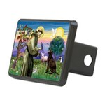 St Francis Chocolate Lab Rectangular Hitch Cover