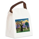 St Francis/Yellow Lab Canvas Lunch Bag