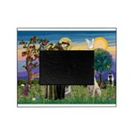 St Francis/Yellow Lab Picture Frame