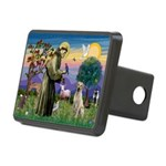 St Francis/Yellow Lab Rectangular Hitch Cover