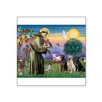 St. Francis/3 Labradors Square Sticker 3