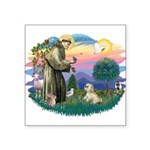 St.Francis #2 / Lhasa Apso (R Square Sticker 3&quo