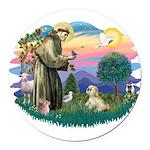 St.Francis #2 / Lhasa Apso (R Round Car Magnet