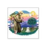 "St.Francis #2 / Maltese Square Sticker 3"" x 3"