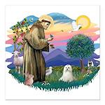 "St.Francis #2 / Maltese Square Car Magnet 3"""
