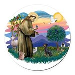 St.Francis #2/ Manchester T Round Car Magnet