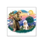 St.Francis #2/ Old English (# Square Sticker 3&quo
