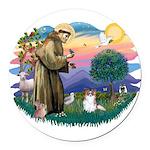 St.Francis #2 / Papillon (sw Round Car Magnet