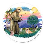 St.Francis #2 / Pekingese #1 Round Car Magnet