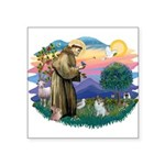 St.Francis #2/ Pomeranian (s& Square Sticker 3