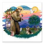 St.Francis #2/ Pomeranian (T Square Car Magnet 3&q