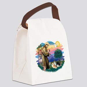 St.Francis #2/ Pomeranian(3) Canvas Lunch Bag