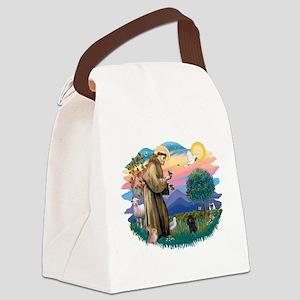 St.Francis #2/ Poodle (Toy Bl Canvas Lunch Bag
