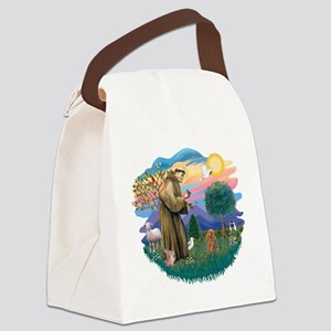St.Francis #2/ Poodle (Toy A) Canvas Lunch Bag