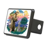 St.Fran #2/ Poodle (Std S) Rectangular Hitch Cover