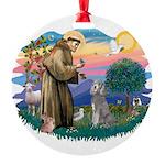 St.Fran #2/ Poodle (Std S) Round Ornament