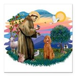 St.Fran #2/ Poodle (Std-ap) Square Car Magnet 3&qu