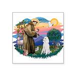 St.Francis #2/ Poodle (Std W) Square Sticker 3&quo