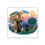 St Francis #2 / PWD (sit) Square Sticker 3
