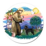 St.Francis #2/ PWD (ret cut) Round Car Magnet