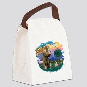 St Francis #2/ Pug (fawn) Canvas Lunch Bag