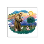 St Francis #2/ Pug (fawn) Square Sticker 3
