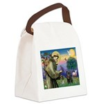 St Francis / Pug Canvas Lunch Bag