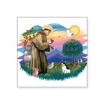 St.Francis #2/ Rat Terrier Square Sticker 3""