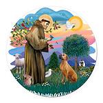 St Francis #2/ R Rback #2 Round Car Magnet