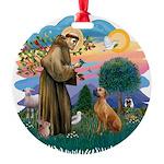 St Francis #2/ R Rback #2 Round Ornament